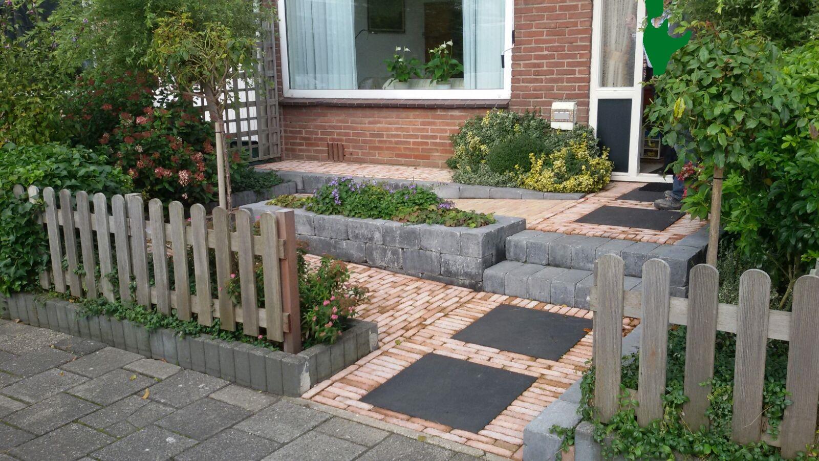 Rolstoelvriendelijk papendrecht van der molen for Bestrating kleine tuin